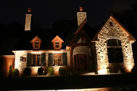 outside lights on or at backyard and yard design for