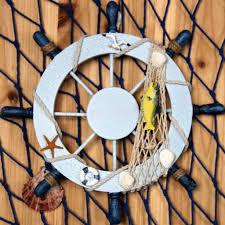 tn wooden rudder sea beach nautical decor wall ornament hanging