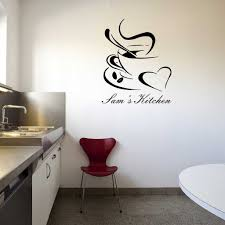 make your own wall stickers personalised wall art add any text personalised coffee cup wall sticker