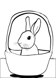 free printable bunny rabbit basket coloring kids