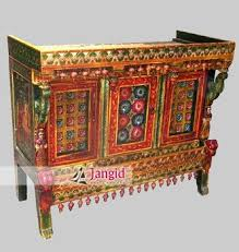 antique wooden hand painted buffet sideboard storage cabinet hand