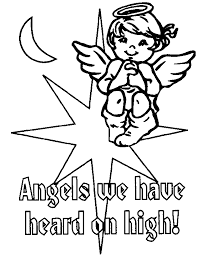 printable angel coloring pages free printable kids angel