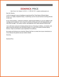 letter of recommendation for nanny gallery letter samples format