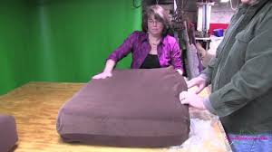 How To Clean Couch Cushion Foam Upholstery Cushion Covers Shrinking And Inserting Foam Youtube
