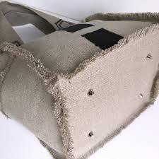 sac cabas lin originecreation u2014 sac cabas en toile de lin naturel 3 carrés