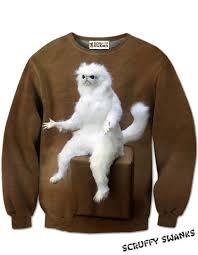 Persian Cat Meme - persian cat all over print sweater scruffy swanks