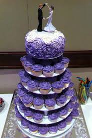 cupcake wedding cake 12 gold yellow purple wedding cakes cupcakes photo purple