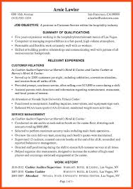 Sample Resume Hospitality by Sample Resume For Customer Service Program Format