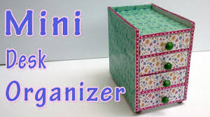 Desk Organizer Diy Mini Desk Organizer Diy Crafts