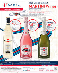 martini bianco ntuc fairprice martini wines promotion 10 30 august 2017
