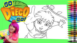 coloring go diego go giant coloring book page crayola crayons
