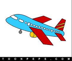 kid airplane drawing