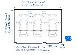 Typical House Floor Plan Dimensions Garage Dimensions