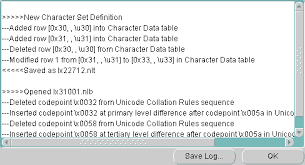 Unicode Character Table Customizing Locale Data