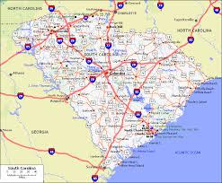 road map of south carolina south carolina counties road map usa
