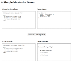 easy html templates with mustache