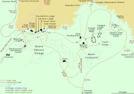 grand national park map map of grand arizona