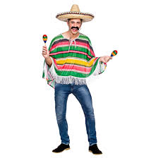 adults mexican bandit poncho one size halloween costume