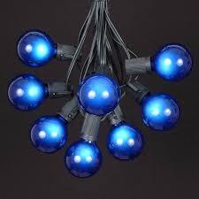 100 blue g50 globe string light set on black wire novelty lights