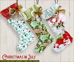english cottage christmas stockings christmas in july sew4home