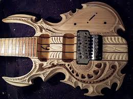 cool wood carvings carved guitar the meta picture