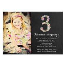3rd birthday invitations u0026 announcements zazzle