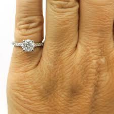 1 carat engagement rings platinum 1 carat diamond solitaire engagement ring the
