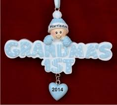 s 1st grandson ornament personalized new