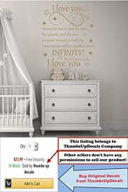 online store infinity symbol wall decals quotes passed the moon