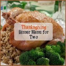 thanksgiving dinner menu for two mrfood