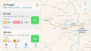 Prague Subway Map by Apple Maps Transit Directions Expand To Prague Czech Republic