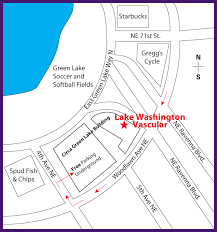 seattle map green lake maps and directions to lake washington vascular centers