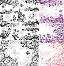 spiral abstract ornaments vector set background pixempire