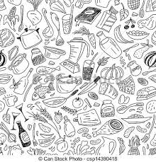 seamless pattern food natural food seamless pattern natural food seamless vector clip