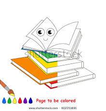 happy books coloring book educate preschool stock vector 602251697