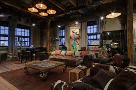 Russian Home Industrial Bachelor Pad Loft Design In Russian Home Design And