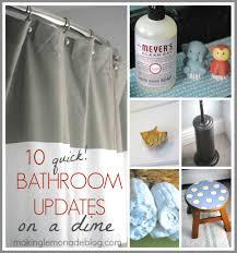 Quick Bathroom Updates On A Dime Day  Making Lemonade - Bathroom updates