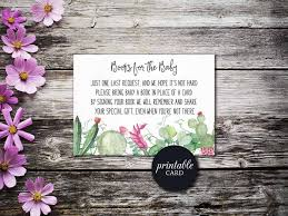 book request baby shower insert card book for baby printable