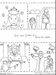 spectacular esther bible story coloring page with free bible