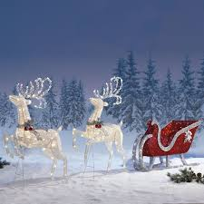 outdoor decoration led reindeer search yes