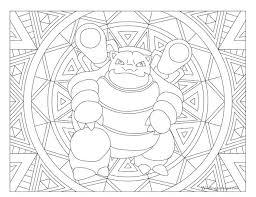 13 pokemon images mandalas coloring
