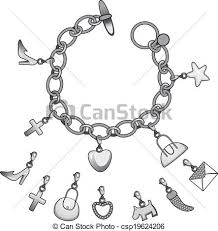 silver pendant bracelet images Silver charms bracelet illustration of beautiful silver vector jpg