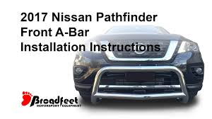 nissan murano nudge bar broadfeet front a bar 2013 2017 nissan pathfinder bumper guard