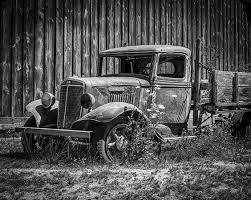 Oak Harbor Roller Barn Derelict Truck Canvas Print Canvas Art By Kyle Wasielewski