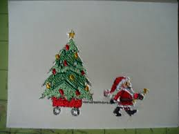 embroidered christmas carla s cards machine embroidered christmas cards