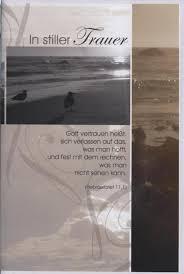 trauersprüche christlich beileidskarte christlicher trauerspruch in stiller trauer meer