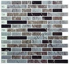 Backsplash Stick On Tiles by Amazon Com Crystiles Peel And Stick Diy Backsplash Tile Stick On