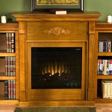 Bookshelf Entertainment Center Electric Fireplace Storage Conway With Bookcases Antique White