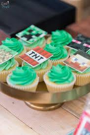 minecraft cupcake ideas kara s party ideas jaime s minecraft birthday party kara s party