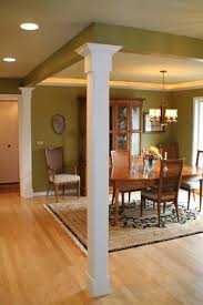 outstanding vintage dining room decors with square interior columns